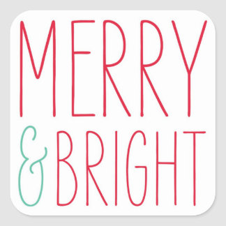 Merry & Bright Holiday stickers