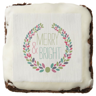 Merry & Bright Modern Woodland Holiday Brownie