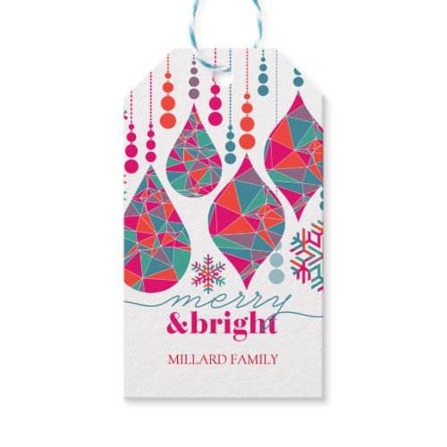 Merry & Bright Ornaments Pack Of Gift Tags