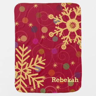 Merry & Bright Personalized Christmas Holiday Swaddle Blanket