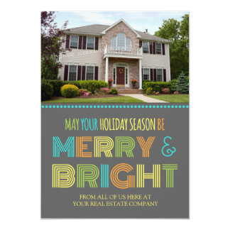Merry & Bright Photo Card Real Estate Business