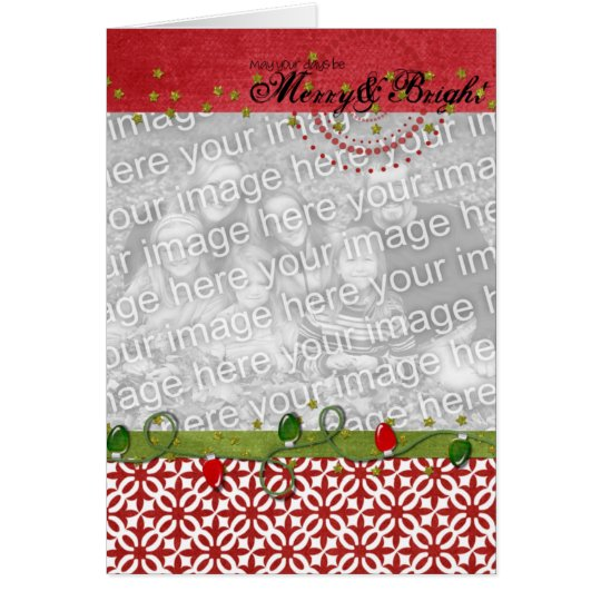 Merry & Bright Photo Frame Card 2