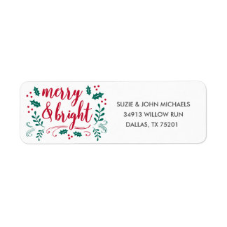 Merry & Bright Return Address Label