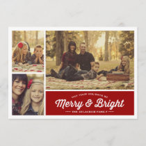 Merry & Bright Ruby 3 Photo Holiday Greeting