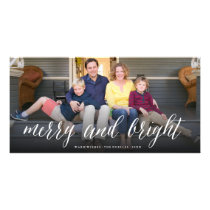 Merry & Bright Simple Script Photo Holiday Card