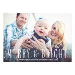 MERRY & BRIGHT SNOWFALL   HOLIDAY PHOTO CARD