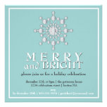 Merry & Bright Sparkle Snowflake Holiday Party Announcement