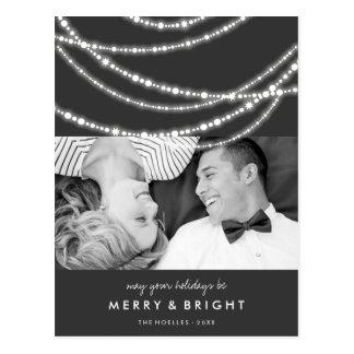 Merry & Bright Sparkles Christmas Holiday Postcard