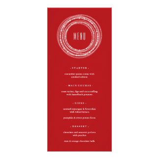 Merry & Bright Sparkles Holiday Party Menu Card