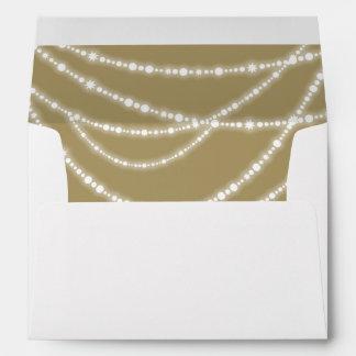 Merry & Bright Sparkles Stylish Holiday Envelope