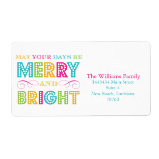 Merry & Bright (Today's Best Award) Label