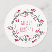 Merry & Bright Wreath Holiday Card