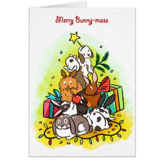 Merry Bunny-mass Card