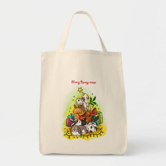 Merry Bunny-mass Tote Bag