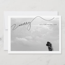 Merry Calligraphy Script Name Photo Christmas Holiday Card
