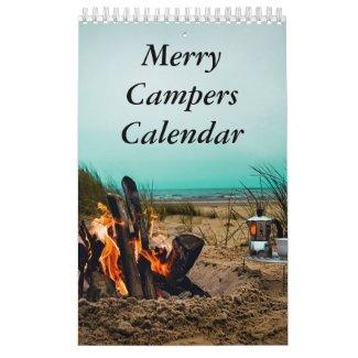 Merry Campers Camping Photos Calendar