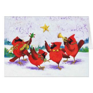 Merry Cardinal Christmas Quartet! Greeting Cards