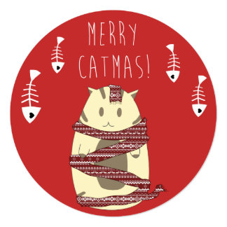 Merry Catmas! Christmas Card for Cat Lovers