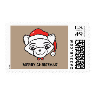 Merry CATmas Everyone - Merry Christmas Cat Postage