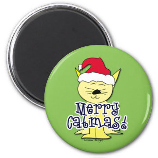 Merry Catmas Holiday magnet