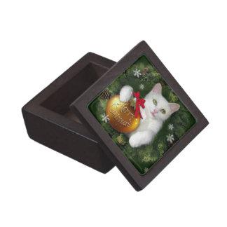Merry Catmas Jewelry Box
