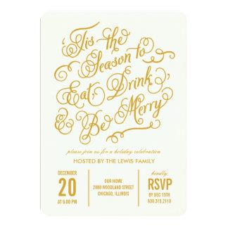 Merry Celebration Holiday Party Invitation Personalized Invite