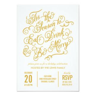 Merry Celebration Holiday Party Invitation Cards