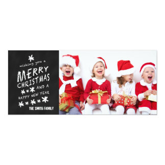 MERRY CHALKBOARD | HOLIDAY PHOTO CARD