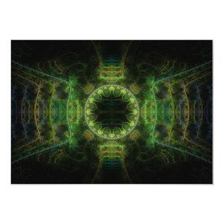 """""""Merry Chameleon"""" Fractal Art Card"""