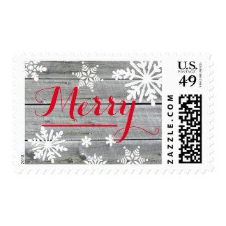 Merry Cheer Old Wood - Postage Stamp