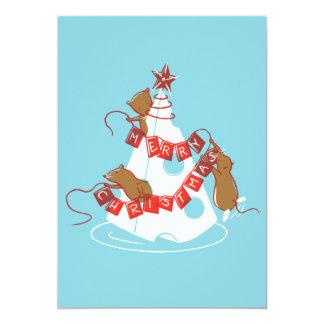 """Merry Cheesemas Holiday Party Invites 5"""" X 7"""" Invitation Card"""