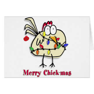 Merry Chick.mas Fun Card