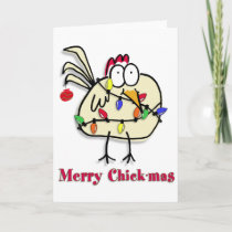 Merry Chick.mas Fun Holiday Card