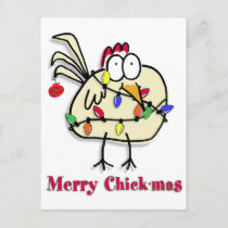 Merry Chick.mas Fun Holiday Postcard