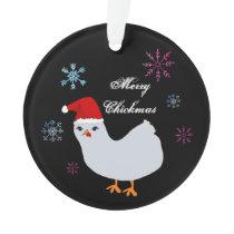 Merry Chickmas Ornament