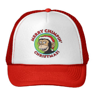 Merry Chimpin' Christmas Trucker Hat