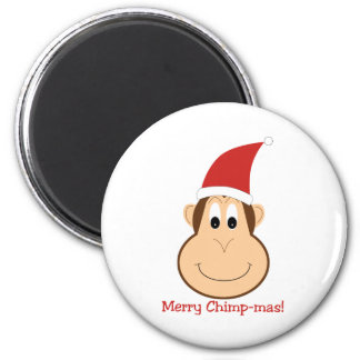 Merry Chimpmas! Christmas gifts 2 Inch Round Magnet