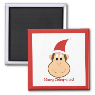 Merry Chimpmas! Christmas gifts 2 Inch Square Magnet