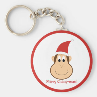 Merry Chimpmas! Christmas gifts Basic Round Button Keychain