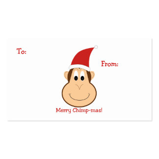 Merry Chimpmas! Christmas gifts Double-Sided Standard Business Cards (Pack Of 100)