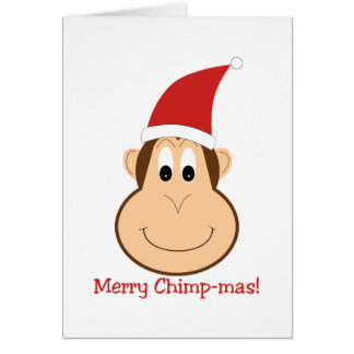 Merry Chimpmas! Christmas gifts Stationery Note Card