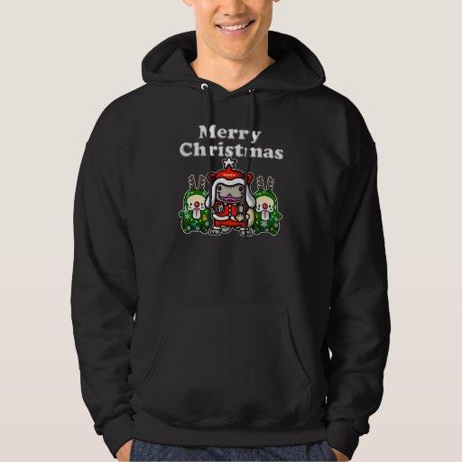 Merry-Chri Santa-nyan Pulóver Con Capucha