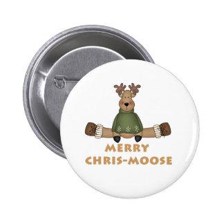 Merry Chris-Moose Button