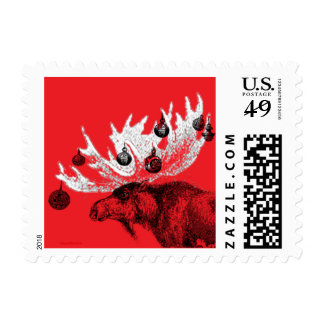 Merry Chris-moose Stamp