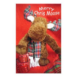 merry chris moose stationery - Christmas Moose Home Decor