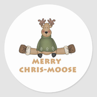 Merry Chris-Moose Sticker