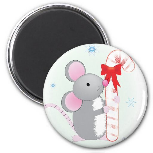 Merry Chris-Mouse 2 Inch Round Magnet