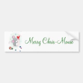Merry Chris-Mouse Car Bumper Sticker