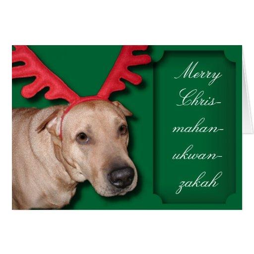 Merry Chrismahanukwanzakah Greeting Card