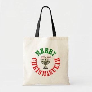 Merry Chrismanukah Budget Tote Bag
